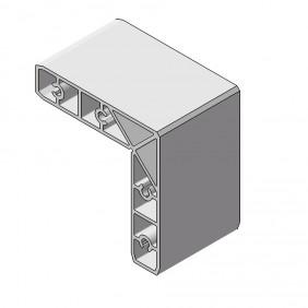 elevato Terrassensystem VALVA Innenwinkel für Basisprofil 60x50 mm