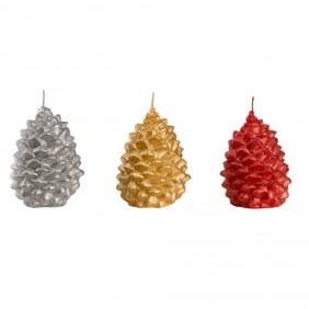 Engels Kerzen Objektkerze Zapfen -gegossene und lackierte Kerze