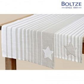 Boltze Tischläufer ALCEA grau 100% Baumwolle
