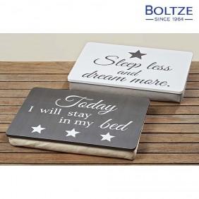Boltze Kissen-Tablett 2-tlg. Set 100% Baumwolle