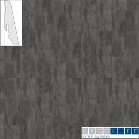 DECOLIFE  Steckfußleiste Cement Noir/Basalt