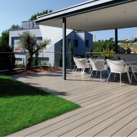 FUN-Deck WPC-Terrassendiele Multigrey light