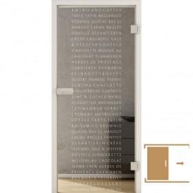 GRIFFWERK Ganzglasschiebetüre TYPO LD-670 ESG Laserdekor