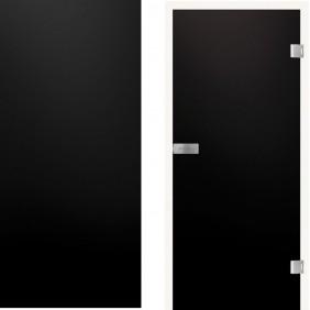 GRIFFWERK Ganzglastüre PIANO Black 517 VSG