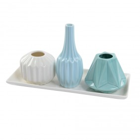 Kaemingk Porzellan Vase TRIO - 4-tlg.