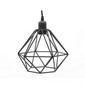 Kaemingk Deckenlampe DIAMOND aus Metall in Schwarz