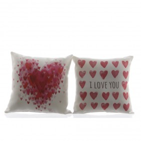 Kaemingk Kissen-Set LOVE  aus100% Baumwolle -2-tlg. 20 x 20 cm