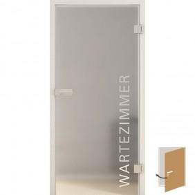 GRIFFWERK Ganzglastüre TYPO LD 554 Laserdekor PRIME aus VSG
