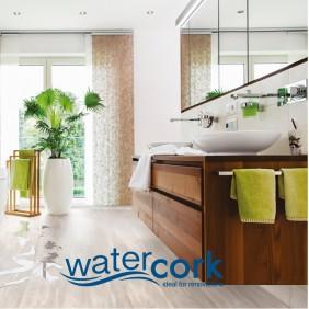 CORKLIFE Designbelag Watercork Landhausdiele Silver Snow Oak, KLV3001