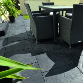 WESERWABEN Scivaro Terrassenplatte anthrazit-werkseitig versiegelt