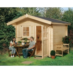 Weka 28 mm Gartenhaus Premium28 FT mit Vordach (60 cm)