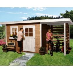 Weka 28 mm Gartenhaus 170 A mit Anbau (150 cm)