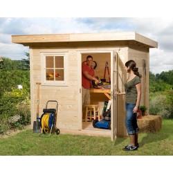 Weka 28 mm Gartenhaus 170 mit Vordach (50 cm)