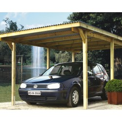 Weka Carport 606 inkl. gratis H-Ankerset