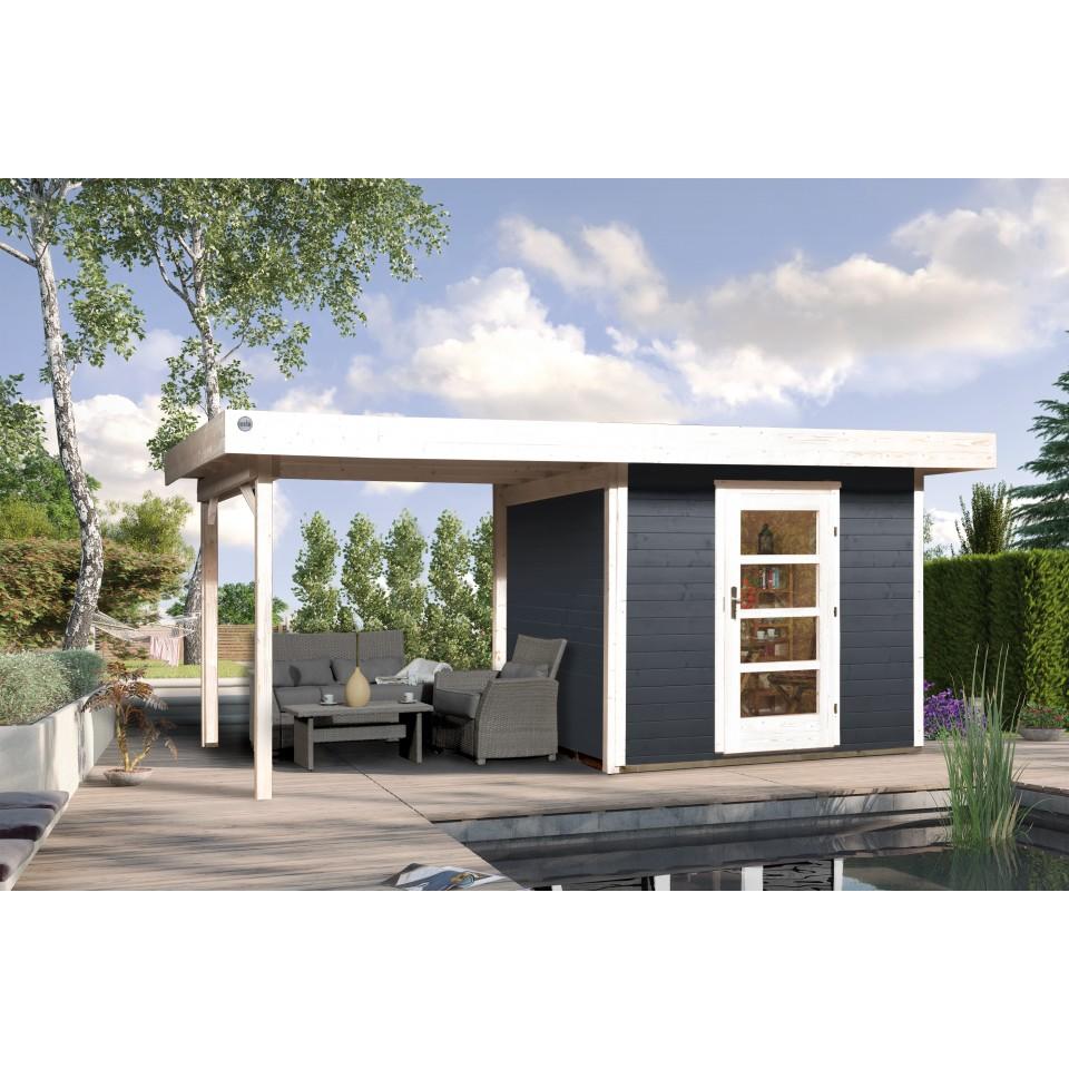 weka 28 mm designhaus 172 b mit anbau 295 cm mein. Black Bedroom Furniture Sets. Home Design Ideas