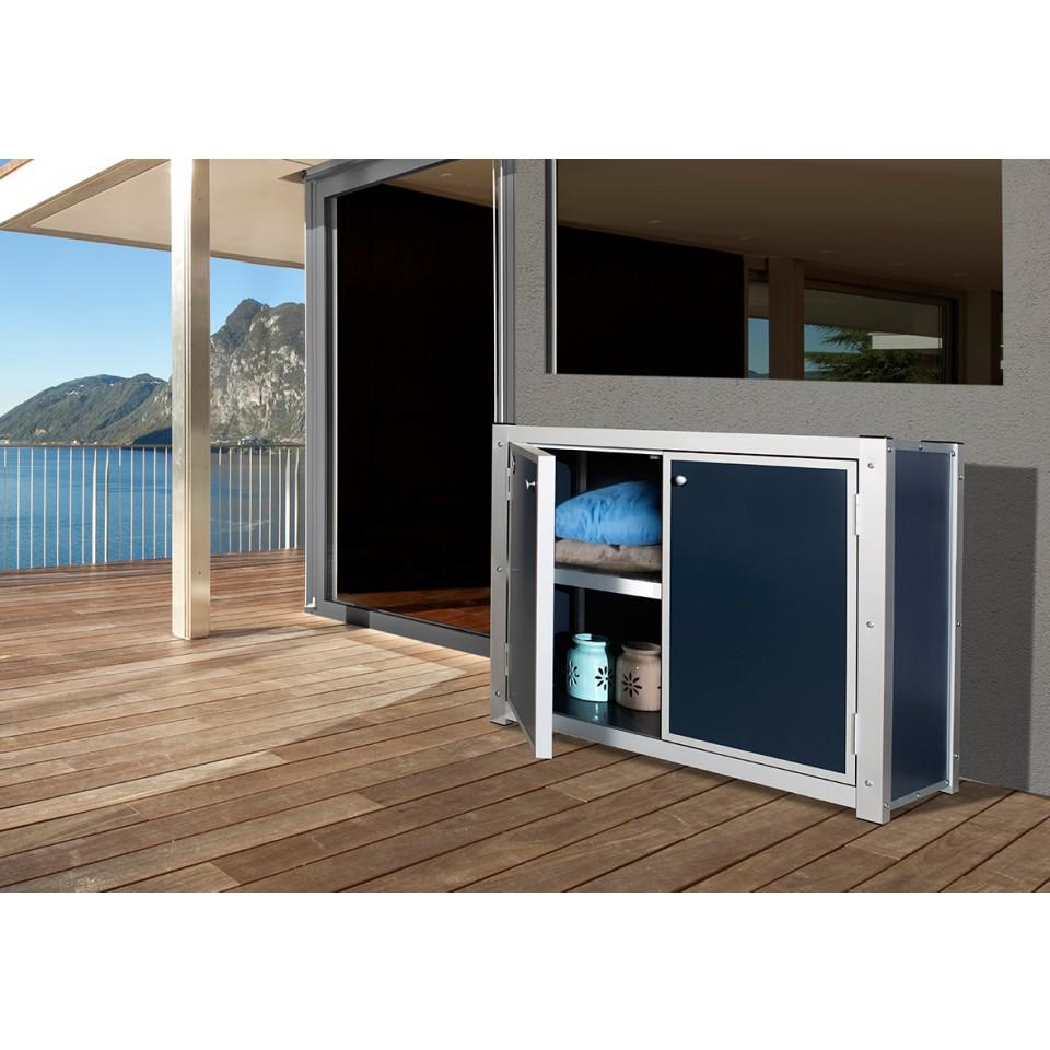 weka premium balkon terrassenschrank aus hpl kunststoffplatten mein. Black Bedroom Furniture Sets. Home Design Ideas
