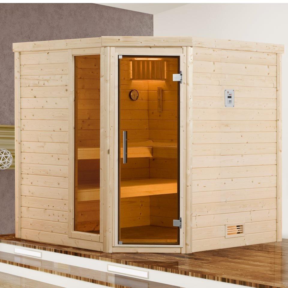 weka premium massivholzsauna 536 gtf set 1 2. Black Bedroom Furniture Sets. Home Design Ideas