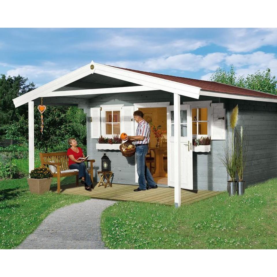 weka 28 mm gartenhaus 110 mit vordach 200 cm mein. Black Bedroom Furniture Sets. Home Design Ideas