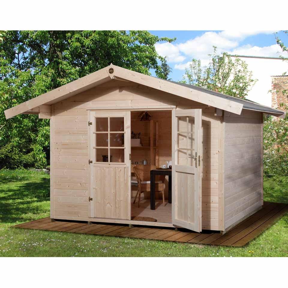 weka gartenhaus wallau 28 mm mein. Black Bedroom Furniture Sets. Home Design Ideas