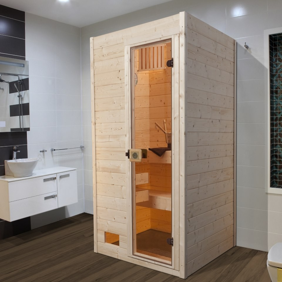 weka sauna 537 gt gr 1 massivholzsauna 38 mm ohne saunaofen mein. Black Bedroom Furniture Sets. Home Design Ideas