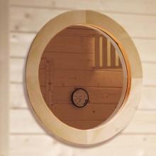 Weka Rundfenster für 45 mm Saunen