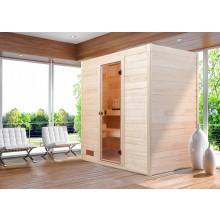 Weka Sauna Valida 2 Sparset mit Glastür inkl. 5,4 kW Ofen und Zubehör- Massivholzsauna 38 mm
