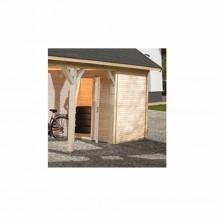 Weka Carportlagerraum für Einzelcarport 615 Leimholz Flach- und Satteldach Gr. 2