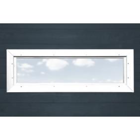 Weka Zusatzfenster feststehend B 125 x H 40 cm, Echtglas