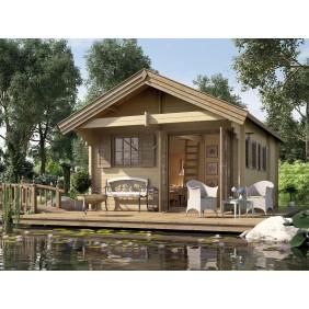 Weka 45 mm Premium Gartenhaus Blockbohlenhaus Müritz