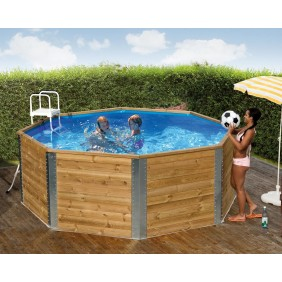 Weka 45 mm Massivholz Swimmingpool Capri