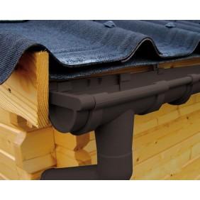 Kunststoff Dachrinnenset für Weka Gartenhaus Premium28 FTGr. 1/2/3/4/5/6
