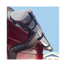 Kunststoff Dachrinnenset für Weka Carport 614 Leimholz Satteldach