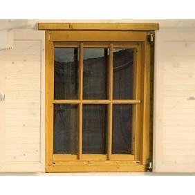 Weka Zusatz- Einzelfenster groß für 45 mm Blockbohlenhäuser