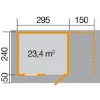 Weka Gartenhaus 170 Gr. 3 Grundriss