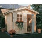 Weka 28 mm Gartenhaus 106 A/107 A mit Vordach (60 cm)