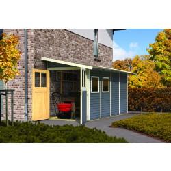 Karibu Classic Anlehn-Gartenhaus Gerätehaus Juist/Wandlitz 2/3/4/5 - 19 mm
