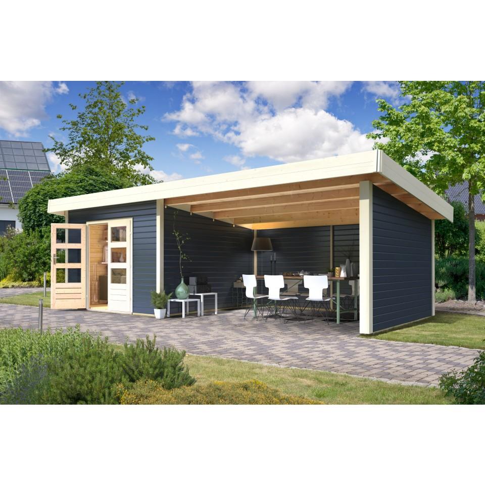 karibu premium gartenhaus moosburg 3 mit 400 cm schleppdach seiten und r ckwand mein. Black Bedroom Furniture Sets. Home Design Ideas