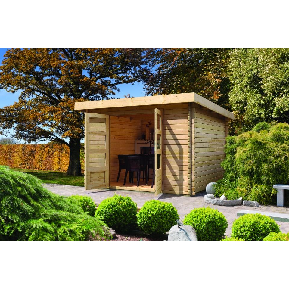 karibu woodfeeling gartenhaus bastrup 2 28 mm karibu. Black Bedroom Furniture Sets. Home Design Ideas