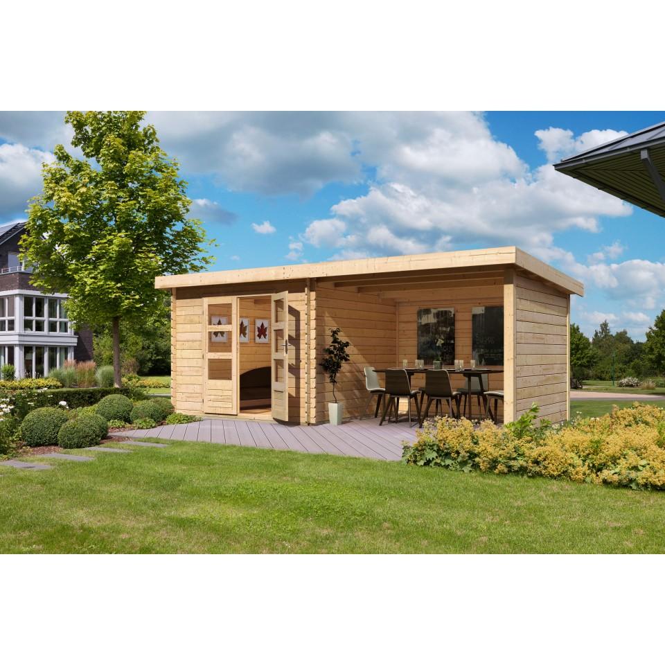 karibu woodfeeling gartenhaus bastrup 4 28 mm mein. Black Bedroom Furniture Sets. Home Design Ideas