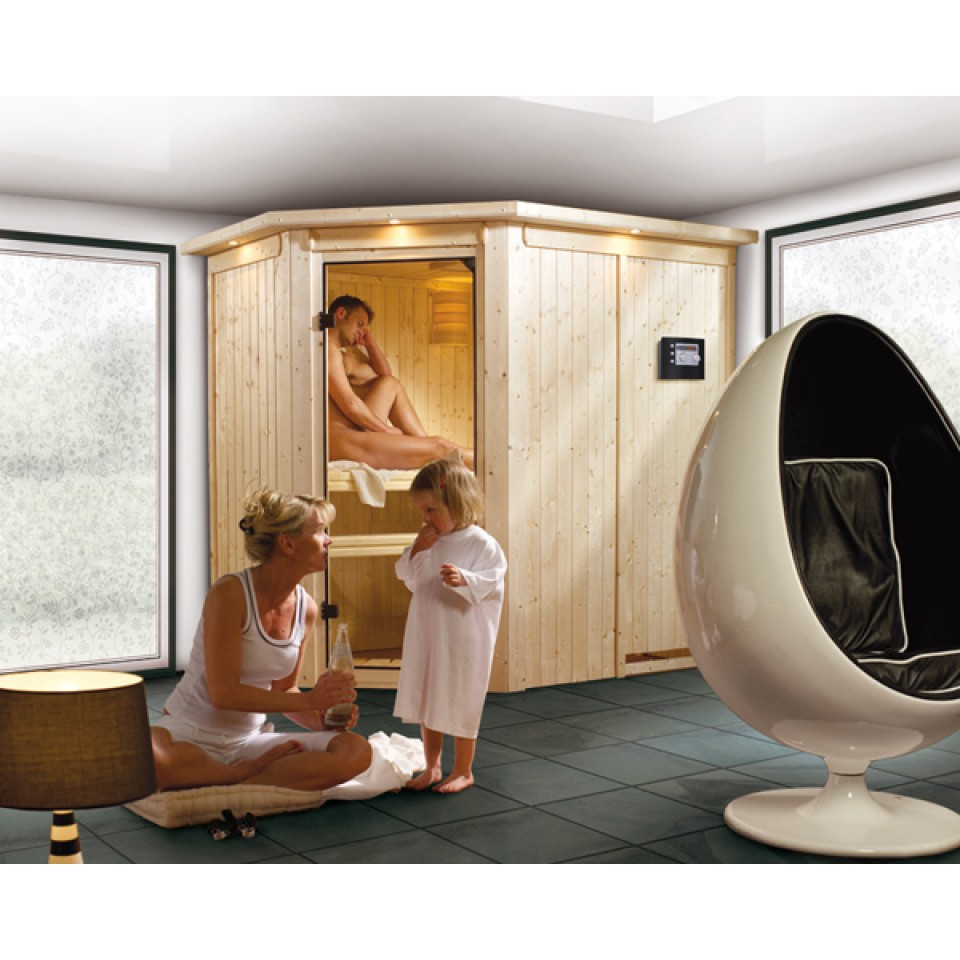 karibu sauna saja 230 volt karibu. Black Bedroom Furniture Sets. Home Design Ideas