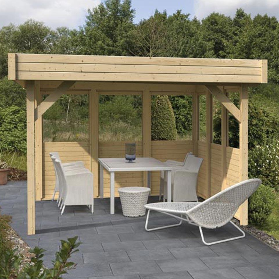karibu wandelement halb f r karibu flachdachpavillons karibu. Black Bedroom Furniture Sets. Home Design Ideas
