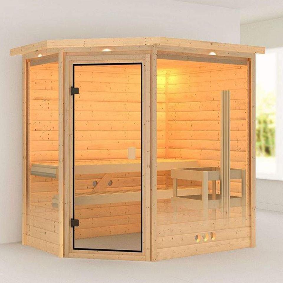 karibu woodfeeling sauna yassin 38 mm massivholz. Black Bedroom Furniture Sets. Home Design Ideas