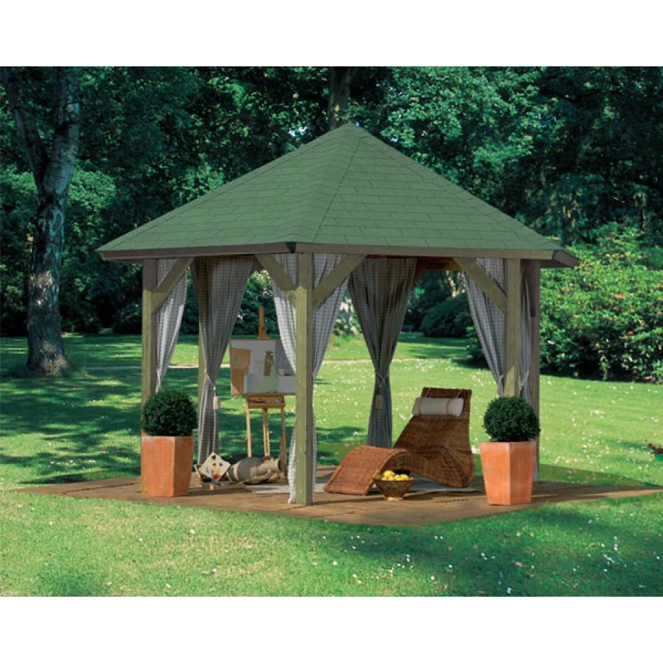 karibu 6 eck pavillon oslo 2 kesseldruckimpr gniert karibu. Black Bedroom Furniture Sets. Home Design Ideas
