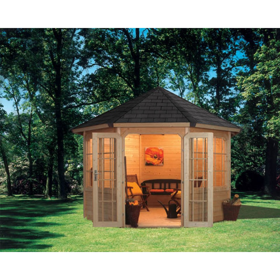 karibu 8 eck premium pavillon rom 2 karibu. Black Bedroom Furniture Sets. Home Design Ideas