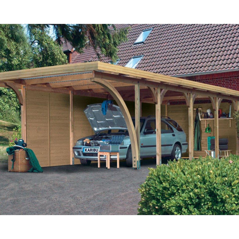 karibu carport einzelcarport premium einzel 2 karibu. Black Bedroom Furniture Sets. Home Design Ideas