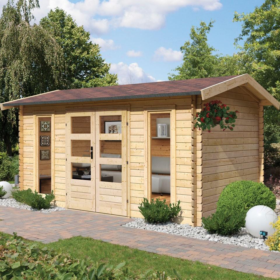 karibu premium gartenhaus blockbohlenhaus hasselberg 28 mm karibu. Black Bedroom Furniture Sets. Home Design Ideas