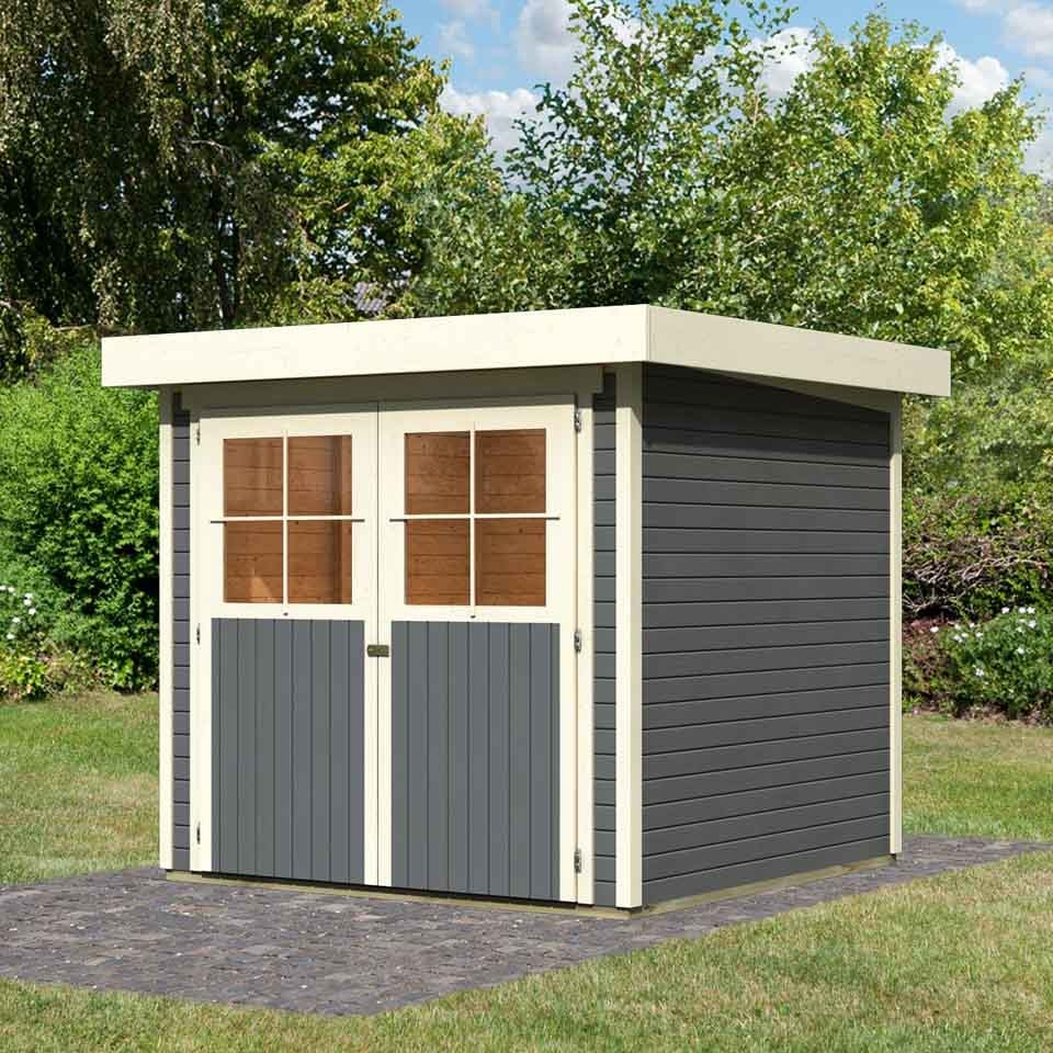 karibu eco gartenhaus ger tehaus lichtenau limburg 2 3 5 19 mm karibu. Black Bedroom Furniture Sets. Home Design Ideas