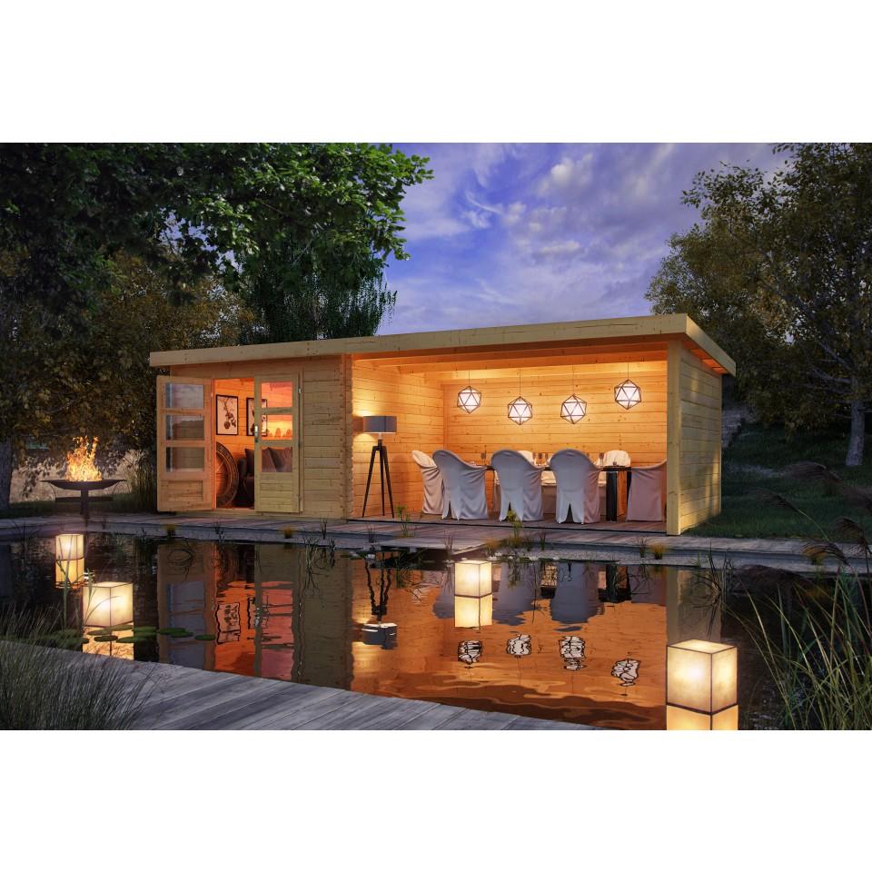 karibu woodfeeling gartenhaus bastrup 5 28 mm mein. Black Bedroom Furniture Sets. Home Design Ideas