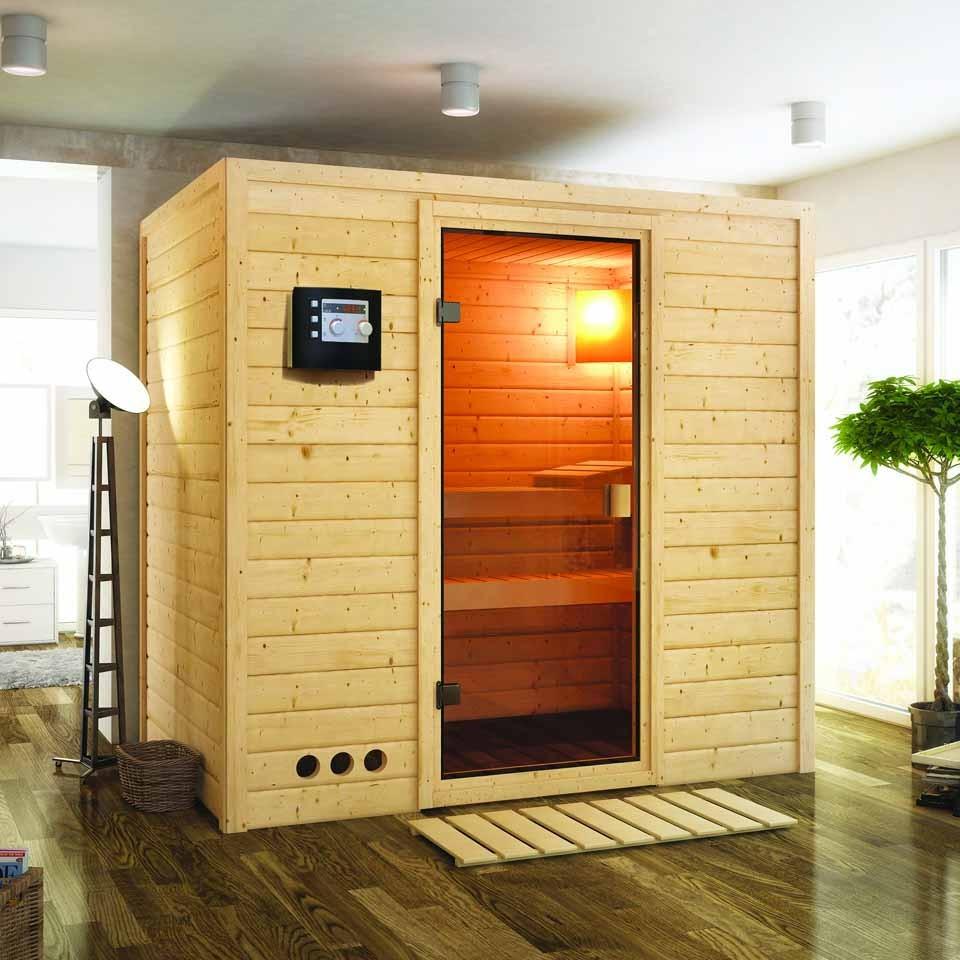 karibu woodfeeling sauna samira 38 mm massivholz aktionssauna karibu. Black Bedroom Furniture Sets. Home Design Ideas