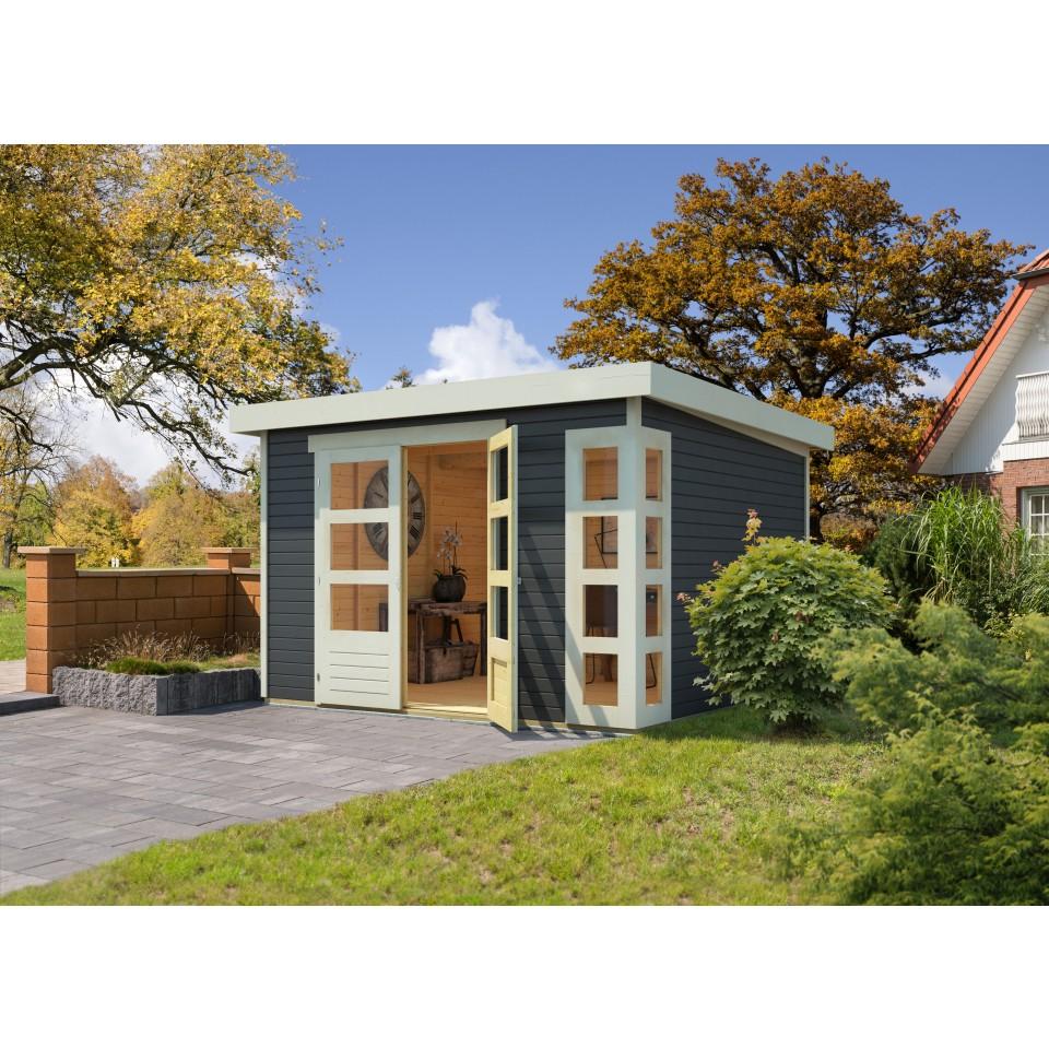 karibu woodfeeling gartenhaus kerko 3 4 6 19 mm karibu. Black Bedroom Furniture Sets. Home Design Ideas